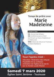 Accueil des reliques de sainte Marie Madeleine